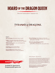 RPG Item: Hoard of the Dragon Queen Online Supplement