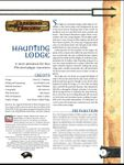 RPG Item: Haunting Lodge