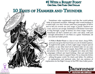 RPG Item: Bullet Points: 10 Feats of Hammer and Thunder
