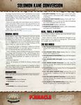 RPG Item: Solomon Kane Conversion