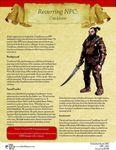 RPG Item: Recurring NPC: Crackbone