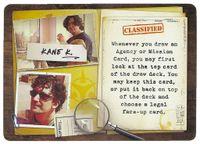 Board Game: Covert: Kane Klenko Character Card