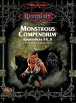 RPG Item: Monstrous Compendium, Ravenloft Appendices I & II