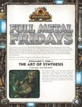 RPG Item: Full Metal Fridays Installment 2, Week 1: The Art of Synthesis