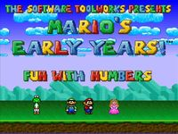 Video Game: Mario's Early Years: Fun with Numbers