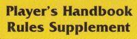 Series: PHBR - Player's Handbook Rules Supplement