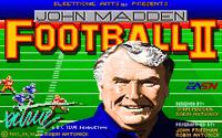 Video Game: John Madden Football II