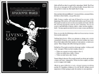 RPG Item: A Hocus Supplement for Apocalypse World: The Living God