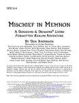 RPG Item: SPEC4-4: Mischief in Memnon