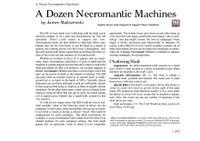 RPG Item: A Dozen Necromantic Machines