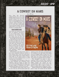 RPG Item: A Cowboy on Mars