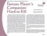 RPG Item: Fantasy Player's Companion: Hard to Kill (Feats 2)