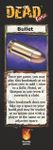 Board Game: Dead Panic: Bullet Bookmark