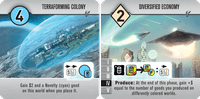 Board Game: Roll for the Galaxy: Terraforming Colony/Diversified Economy Promo Tile