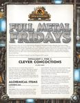RPG Item: Full Metal Fridays Installment 2, Week 2: Clever Concoctions