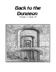 Issue: Back to the Dungeon (Vol 1, Issue 4 - Nov 2013)