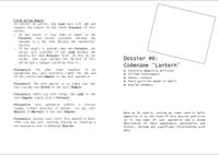 """RPG Item: Dossier #6: Codename """"Lantern"""""""