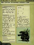 RPG Item: Subject Data A04: Gator / Stormer Variant 330