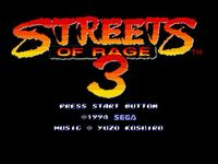 Video Game: Streets of Rage 3