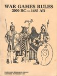 Board Game: War Games Rules  3000 BC to 1485 AD