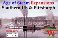 Board Game: Age of Steam Expansions: Southern US & Pittsburgh