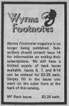 Periodical: Wyrms Footnotes