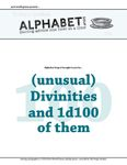 RPG Item: Alphabet Soup: (Unusual) Divinities and 1d100 of them