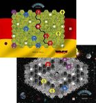 Board Game: Age of Steam Expansion: Moon and Berlin Wall