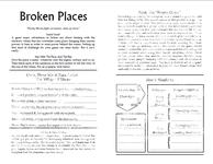 RPG Item: Broken Places