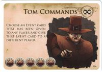 Board Game: New Salem: Tom Commands Promo Card