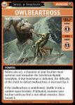 "Board Game: Pathfinder Adventure Card Game: Skull & Shackles – ""Owlbeartross"" Promo Card"