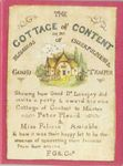 Board Game: The Cottage of Content or the Blessings of Cheerfulness & Good Temper
