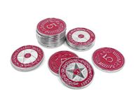Board Game Accessory: Scythe: Promo Pack #17 – 15 Metal $5 Rusviet Red Coins