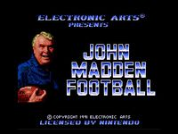 Video Game: John Madden Football (1991)
