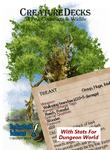 RPG Item: Creature Decks: 54 Fey, Constructs & Wildlife (Dungeon World)