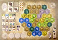 Board Game: The Castles of Burgundy: 7th Expansion – German Board Game Championship Board 2016