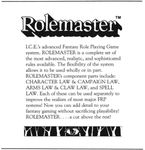 System: Rolemaster Game System