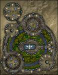 RPG Item: VTT Map Set 289: Offworld Enclosed Public Park