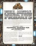 RPG Item: Full Metal Fridays Installment 3, Week 1: Equipping Yourself for an Expedition
