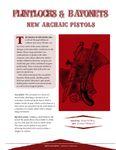 Issue: EONS #17 - Flintlocks & Bayonets: New Archaic Pistols