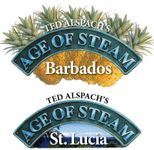 Board Game: Age of Steam Expansion: Barbados / St. Lucia