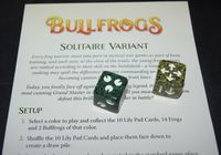 Board Game: Bullfrogs: Solitaire Variant Expansion