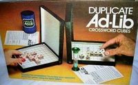 Board Game: Duplicate Ad-Lib Crossword Cubes