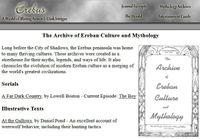 RPG Item: Erebus: Archive of Ereban Culture and Mythology