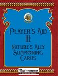 RPG Item: Player's Aid III: Nature's Ally Summoning Cards