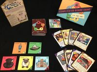 Board Game: Complicated Board Game the Card Game