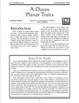 RPG Item: A Dozen Planar Traits