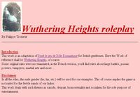 RPG Item: Wuthering Heights roleplay