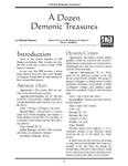 RPG Item: A Dozen Demonic Treasures