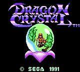 Video Game: Dragon Crystal